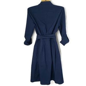 41 Hawthorn Dresses - 41 Hawthorne Blue Collared Wrap Dress